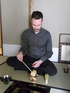 Wouter at Japanese tea ceremony
