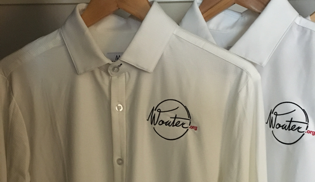 Wouter.org embroidered on shirts